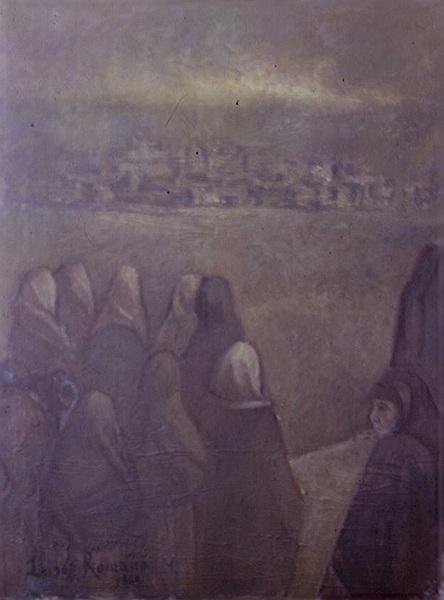 Retrospettiva delle opere della pittrice luisa romano for Cassapanca roma